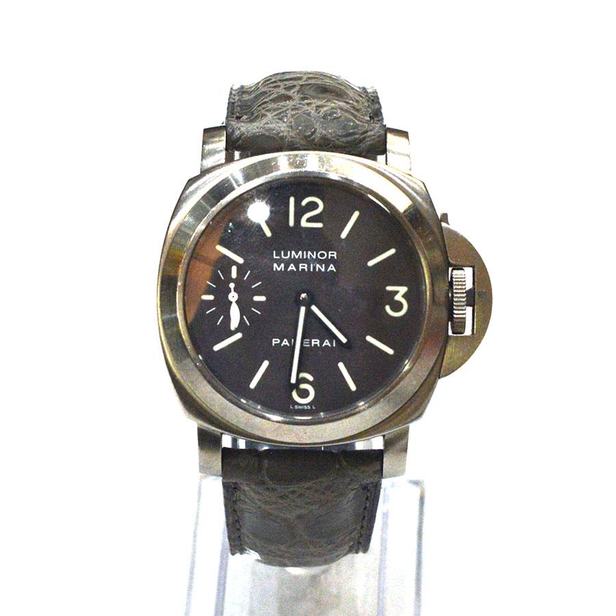 パネライ ルミノール (PANERAI LUMINOR)) 素材:クロコダイル カラー:マット/グレー 時計ベルトオーダー