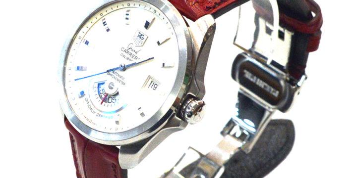 TAG HEUER Grand Carrera(タグホイヤー グランドカレラ) 素材:クロコダイル カラー:マット/えんじ