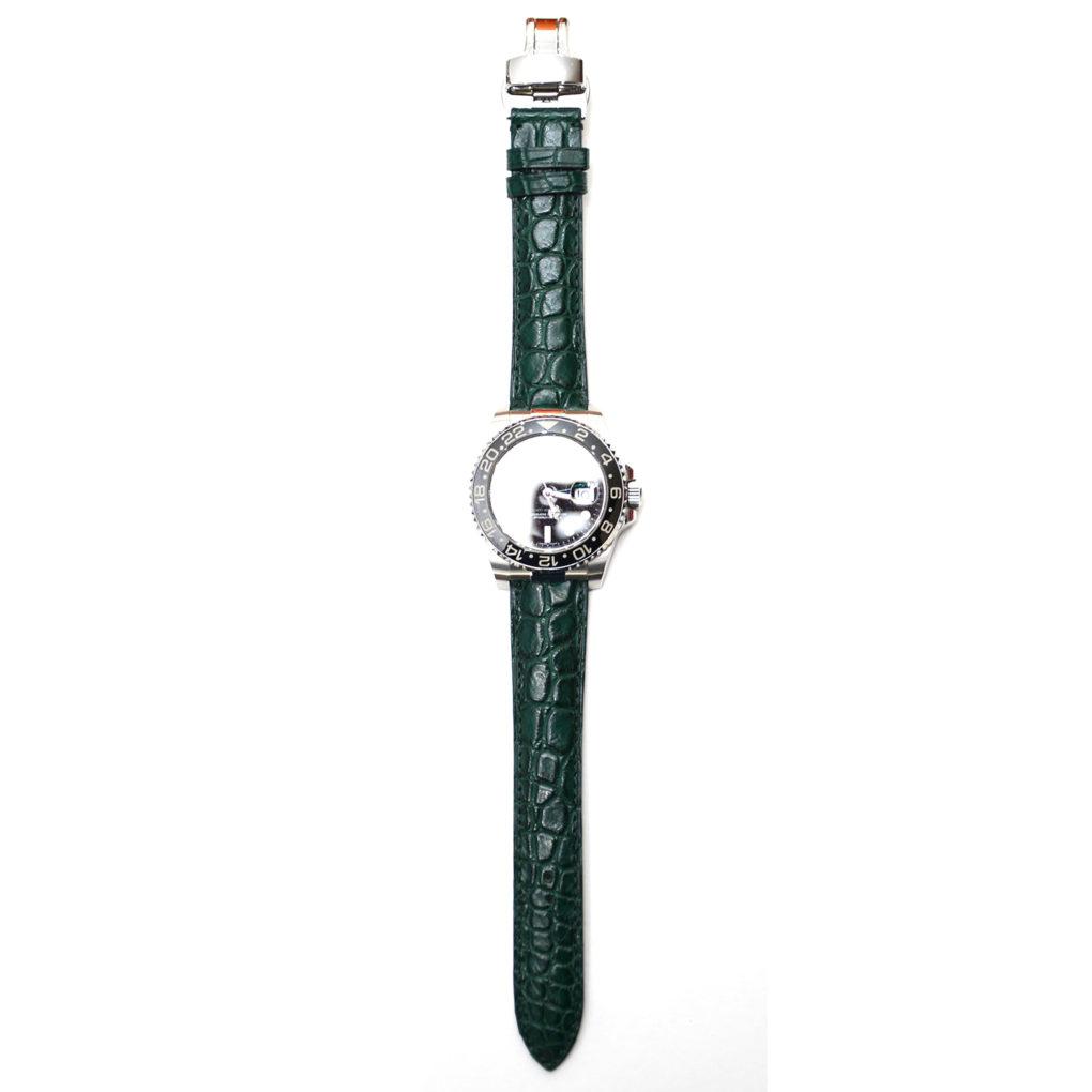 ROLEX GMTマスター2(ロレックス GMTマスター2)素材:クロコダイル カラー:マット/深緑