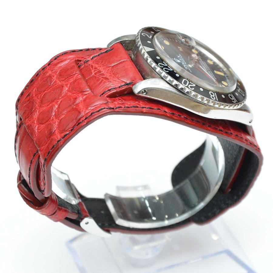ROLEX GMT MASTER(ロレックス GMTマスター)素材:クロコダイル カラー:マット 時計ベルト&ウォッチプロテクター(背当て)